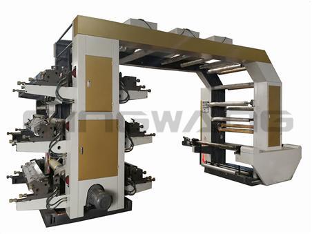 6色斜齿柔版印刷机